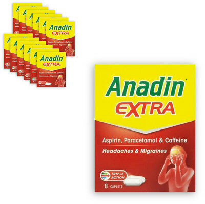 ANADIN EXTRA 8's CAPLETS FOR HEADACHES, MUSCLE ACHES - EXPIRY 2021