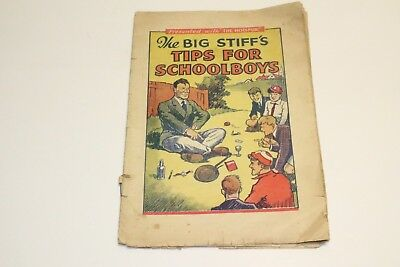 1930s COMIC THE BIG STIFF'S TIPS FOR SCHOOLBOYS, PRESENTED WITH HOTSPUR,