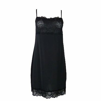 Ex M&S Deep Lace Decollete And Hem Stretchy Full Slip / Nightdress