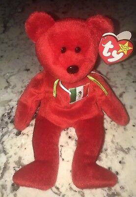 """1999 TY Beanie babies Collection """"Osito the Bear Plush Toy retired Ex"""