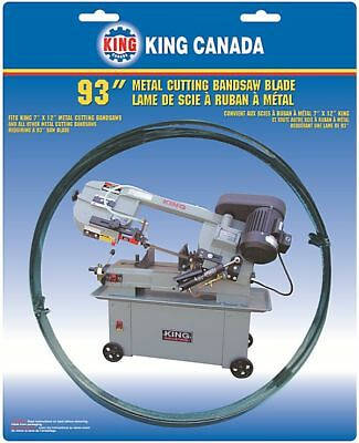 "King Canada Tools KBB-712-18 METAL CUTTING BANDSAW BLADE 93"" x 0.32"" x 18 TPI"
