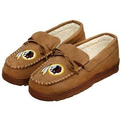 Forever Collectibles NFL NEW Washington Redskins Mens Moccasins Slippers