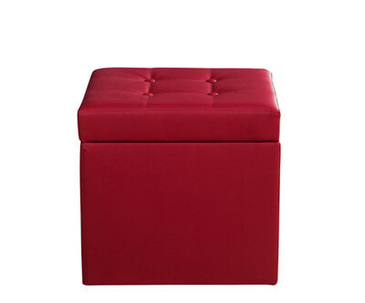 Giby C pouf contenitore in ecopelle ROSSO