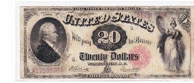 Fr.147 1880 $20 Legal Tender US Currency Paper Money Note Bill