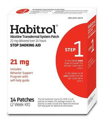 Habitrol Nicotine Transdermal System Patch | Stop Smoking Aid | Step 1 (21...