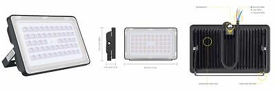 Viugreum 150W LED Flood Light Outdoor, Thinner and Lighter warm white