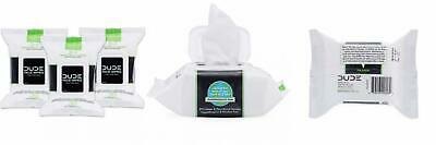 DUDE Face Wipes (3 Packs 30 Wipes) Energizing & Refreshing Scent Infused...