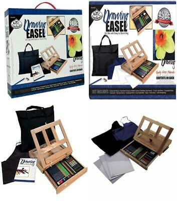 Artists 44pc Drawing Easel Art Set With Easy To Store Bag Royal and Langnickel