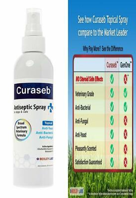 Curaseb | Chlorhexidine Spray for Dogs & Cats - Anti Itch, Antifungal &...