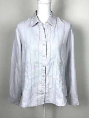 3da6a8b8e8443 NWT LEMON GRASS Plus Size 24W Tan Button Up Shirt Top Embroidered ...