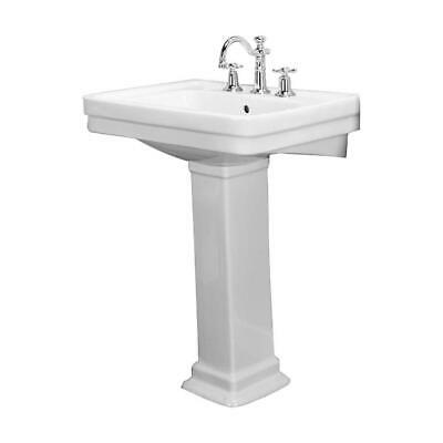 Barclay Hartford Pedestal Sink.Barclay Sussex 550 Pedestal Sink 4 Centerset Faucet White Finish