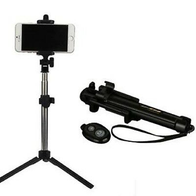 Black 3in1 Handheld Selfie Stick Tripod With Bluetooth For iPhone XR XS XS Max X