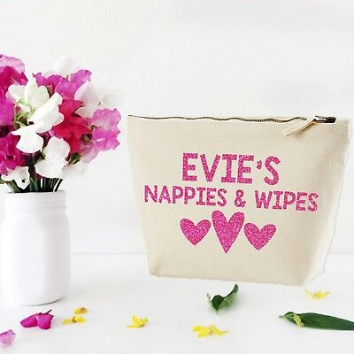 Personalised Baby Nappy Pouch Mini Changing Bag- GIFT FOR NEW BABY #MUB1
