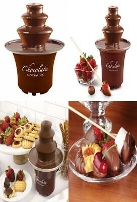 Nostalgia CFF300 3-Tier 1/2-Pound Chocolate Fondue Fountain Brown