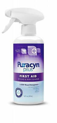 Puracyn Plus Wound and Skin Cleanser – Care Spray for cuts, 16oz