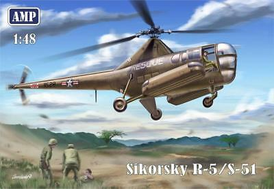 1:48 AMP #48002 -  Sikorsky R-5/S-51 Helicopter - with PE parts, film, masks