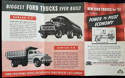 1951 Ford Economy Line Up Brochure Featuring Power Pilot Economy F1-F8