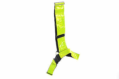 "Hi Viz Horse Riders High Quality 3"" Wide Visilite Bright Safety Belt Large"