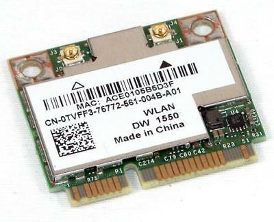 NEW DELL TVFF3 DW1550 802 11 abgn Wireless Bluetooth 4 0 Mini PCI-E Card