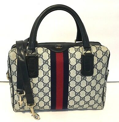 250bed6ffadd Authentic Vintage GUCCI Boston Doctor Shoulder Bag Satchel Purse Handbag 2  Way