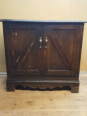 Vintage Lane Wood Flip Front Lp Record Storage Cabinet
