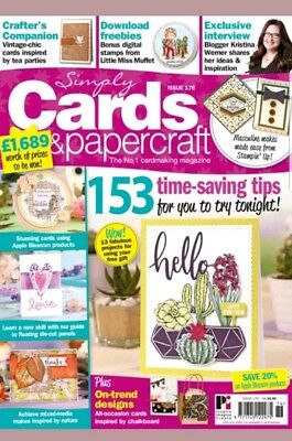 Simply Cards & Papercraft Magazine 176 with Teacup Garden Dies & Stamps Set