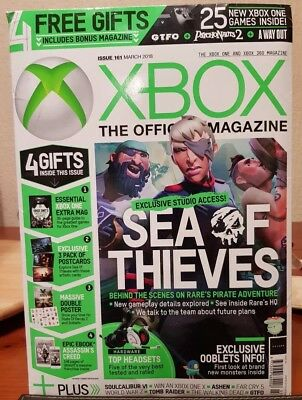 Official XBOX magazine UK March 18 + 4 Free Gifts