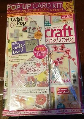 Papercraft Inspirations magazine #177 May 2018 + He is & Pop Card PK + 2Dies Set