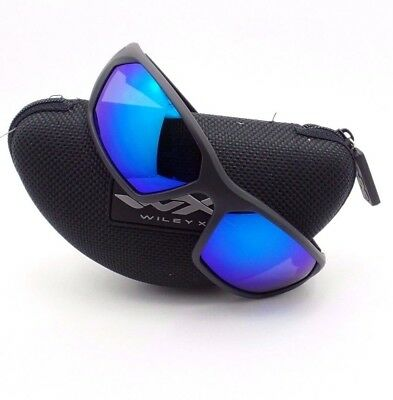 2994f5d457b Wiley X Ignite Matte Black Blue Polarized Sunglasses Authentic New ACIGN09  rl