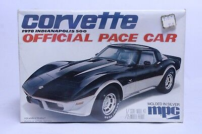 Vintage 1/25 Scale Mpc 1978 Corvette Indy 500 Pace Car Model Kit Sealed In Box