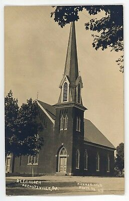 RPPC Reformed Church ARENDTSVILLE PA Adams County Kuhn Real Photo Postcard 1