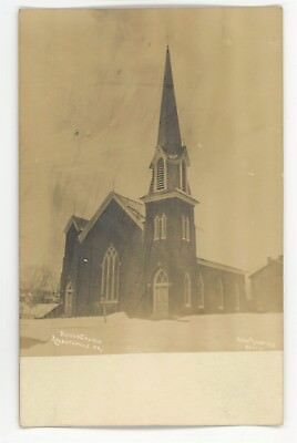 RPPC Reformed Church ARENDTSVILLE PA Adams County Kuhn Real Photo Postcard 2