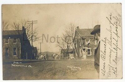 RPPC Pearl St ARENDTSVILLE PA Adams County Pennsylvania Kuhn Real Photo Postcard
