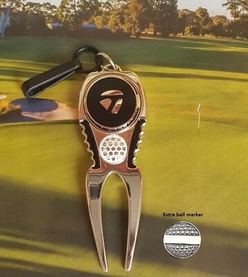Taylormade Blac Magnetic marker and Divot tool plus extra marker