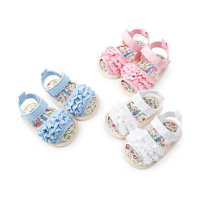 Summer Baby Girls Kids Toddler Hollow Princess Bow Shoes Prewalker Beach Sandals