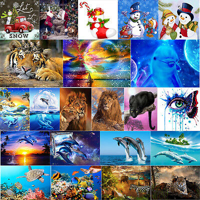 5D Tiere Kombination DIY Diamant Malerei Stickerei Diamond Painting Kreuzstich