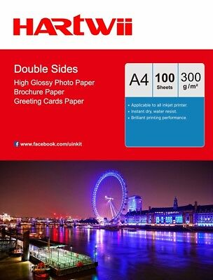 A4 Thick Double Sided High Glossy Photo Paper 300 Gsm Inkjet Paper Hartwii