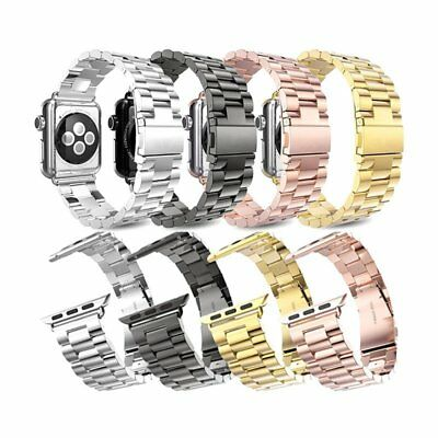 Replacement Stainless Steel Wrist Band Chain Strap Clasp for Apple Watch 42&38mm
