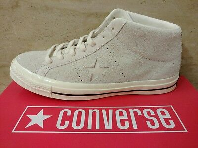 Men's Size 9.5 Converse One Star OX Suede Leather Mid Top Shoes CONS Skate Gray
