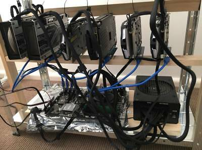 6x GPU Cryptocurrency Mining Rig