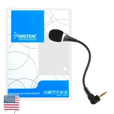 """VOIP SKYPE 3.5mm 5.75"""" Flexible Mini Microphone for Laptop Notebook PC Podcast"""