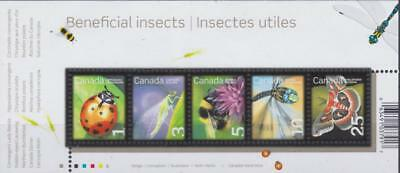 CANADA Souvenir Sheet 2007 #2238a - Beneficial Insects 1st set - MNH