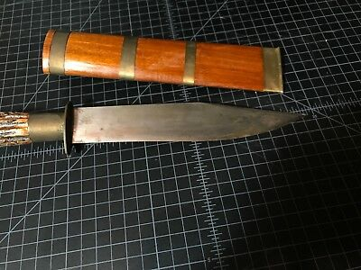 Antique 19thc Thai Laos daab sword dha Asian dagger fighting knife Burmese