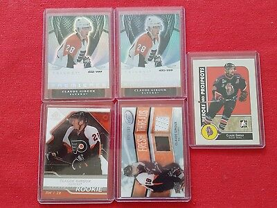 2008-09 Claude Giroux rookie RC - lot of 5 cards - SP Ice Flyers HOT!!!