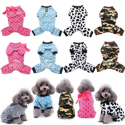 Pet Dog Jumpsuit Pajamas Puppy Cat Sweater Jumper Warm Clothes Costume Apparel