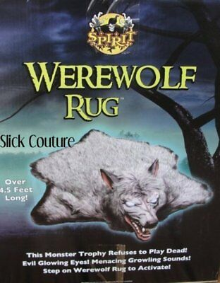 werewolf rug spirit halloween life size prop growls howls glow eyes sale price