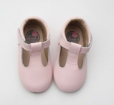 Baby Girls T-bar Leather Shoes 0-12 Months
