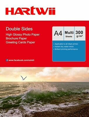 A4 Thick 300Gsm Double Sides High Glossy Inkjet Photo Paper 100-1000 Sheets Har