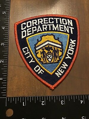City Of NEW YORK Correction Department Patch NY Prison