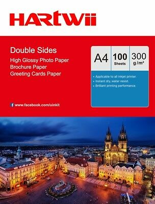 A4 300Gsm Double Sided High Glossy Photo Paper Thick Inkjet Paper  - 100sheets